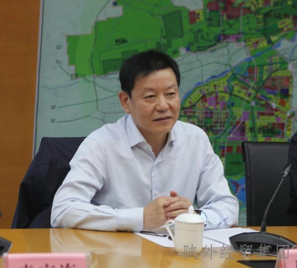 陕外经贸集团董事长肖玉龙一行访问沣西新城