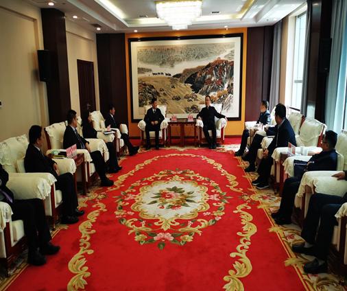陕万博maxbextx注册集团与榆林市政府就双方合作开展深入座谈